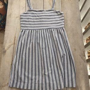 LOFT Striped Jumper Dress